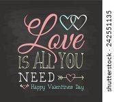 happy valentine's day | Shutterstock .eps vector #242551135