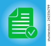 document  with ok  icon. | Shutterstock .eps vector #242556799