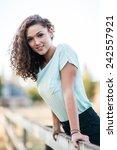 portrait of attractive young...   Shutterstock . vector #242557921
