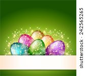 easter eggs card | Shutterstock . vector #242565265