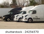 truck trailers at a rest area | Shutterstock . vector #24256570
