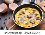 omelette with mushrooms | Shutterstock . vector #242566144