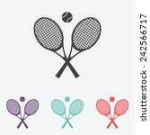 tennis rackets with ball vector ... | Shutterstock .eps vector #242566717