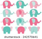 Stock vector elephants 242570641