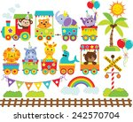 zoo train | Shutterstock .eps vector #242570704