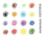 handpaint watercolor vector... | Shutterstock .eps vector #242570914