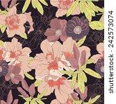 floral vector pattern  azaleas... | Shutterstock .eps vector #242573074