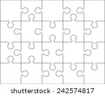 20 jigsaw puzzle blank template ... | Shutterstock .eps vector #242574817