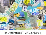 mood board made of pieces of... | Shutterstock . vector #242576917