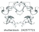 cupid with bow and arrow ... | Shutterstock .eps vector #242577721