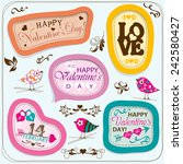 valentines day cards with... | Shutterstock .eps vector #242580427