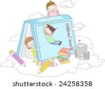 starting school | Shutterstock .eps vector #24258358