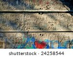 Carved Graffiti Planks With...