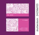 vector pink flowers lineart...   Shutterstock .eps vector #242586955
