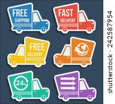 free delivery  fast delivery ... | Shutterstock .eps vector #242587954