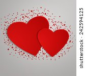 valentines day background with... | Shutterstock .eps vector #242594125