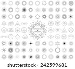 sunbursts and borders... | Shutterstock .eps vector #242599681