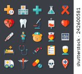 health and medical care icons... | Shutterstock .eps vector #242600581