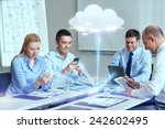 Business People Cloud Computing Technology - Fine Art prints