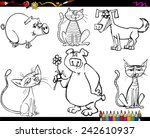 coloring book or page cartoon... | Shutterstock . vector #242610937