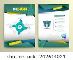 vector design page template... | Shutterstock .eps vector #242614021