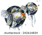 watercolor print of fish | Shutterstock . vector #242614834