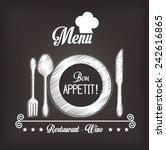 kitchen design over gray... | Shutterstock .eps vector #242616865