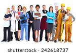 group of workers people.... | Shutterstock . vector #242618737