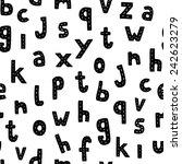 black letters on white... | Shutterstock .eps vector #242623279