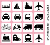 transport icons transportation... | Shutterstock .eps vector #242625265