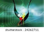illustration of serving dollar... | Shutterstock . vector #24262711