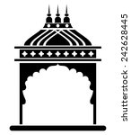 indian arch. jharokha. | Shutterstock .eps vector #242628445