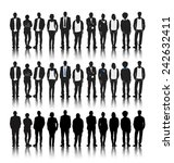 vector of silhouettes of... | Shutterstock .eps vector #242632411