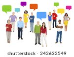 illustration of multiethnic... | Shutterstock .eps vector #242632549