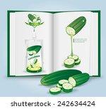 cucumber with book.vector | Shutterstock .eps vector #242634424