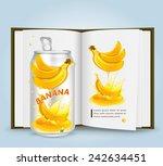 banana with book.vector | Shutterstock .eps vector #242634451