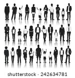silhouettes of casual people in ... | Shutterstock .eps vector #242634781