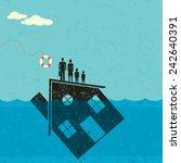 underwater mortgage help a... | Shutterstock .eps vector #242640391