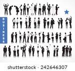 silhouettes of business people... | Shutterstock .eps vector #242646307