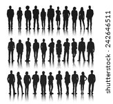 silhouettes group of people in... | Shutterstock .eps vector #242646511