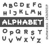 round font. alphabet... | Shutterstock . vector #242650519
