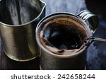 the coffee bag for filtering... | Shutterstock . vector #242658244