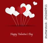 valentines day heart balloons   Shutterstock .eps vector #242660911