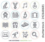 Education   Learning Line Icon...