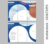abstract colored brochure...   Shutterstock .eps vector #242672491