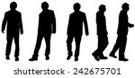 vector silhouette of a man on... | Shutterstock .eps vector #242675701