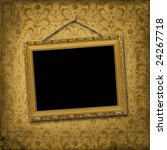 picture gold frame with a... | Shutterstock . vector #24267718