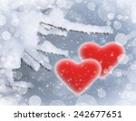 valentine background with red...   Shutterstock . vector #242677651