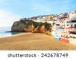 a panorama of carvoeiro in... | Shutterstock . vector #242678749