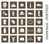 set of clothes icons. clothing... | Shutterstock .eps vector #242679229